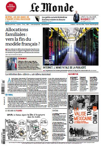 Le Monde Mercredi 03 Avril 2013