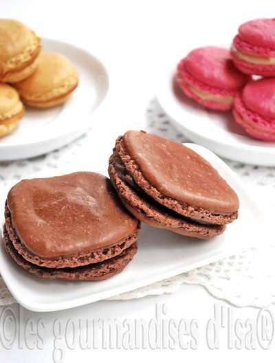 macarrs au chocolat ganache au chocolat au lait et pte de spculoos pour une quarantaine de macarrs ou 50 macarons 250 g de poudre damandes - Colorant En Poudre Pour Macarons